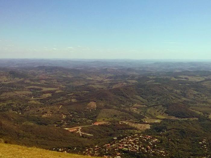 Vista da Serra da Moeda Minas Gerais