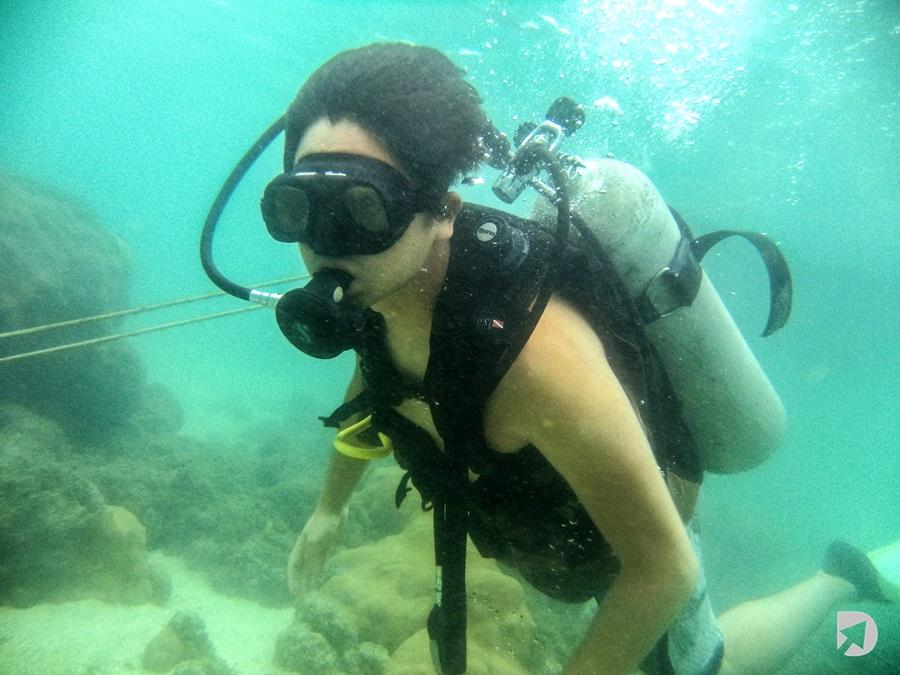 Mergulhador em Porto de Galinhas