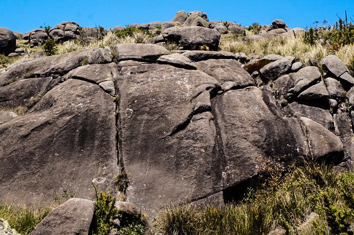 Pedra com formato de cabeca de indio
